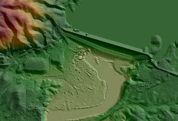 WorldDEM elevation model of Mosul Dam