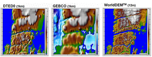 Detail WorldDEM - 12m Digital Elevation Model