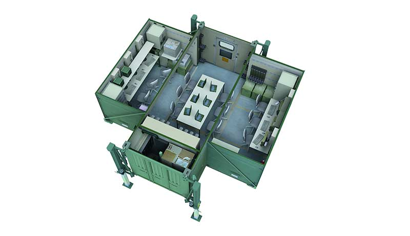 Fortion® Mobile Command Post - interior view of container