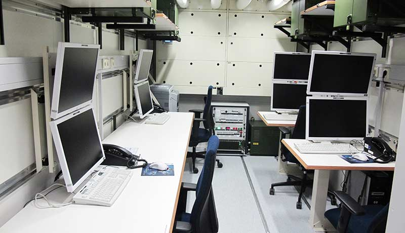 Workplaces in a Fortion® Mobile Command Post