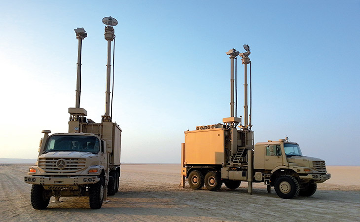 Multi-Sensors Surveillance Vehicles, easy to deploy and equipped with sensors to rapidly secure fields of operation