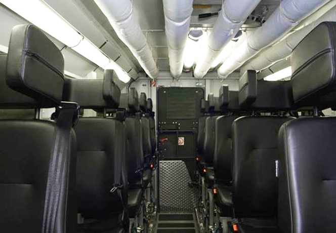 Fortion TransProtec interior view of passenger compartment