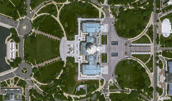 Washington DC, USA  at 30cm resolution by Pléiades Neo 3 satellite, copyright Airbus DS 2021