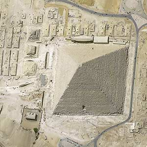 Kheops Pyramid, Cairo, Egypt at 30cm resolution by Pléiades Neo 3 satellite, copyright Airbus DS 2021
