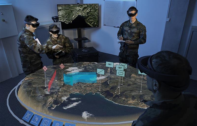 Holographic tactical sandbox a collaborative tool