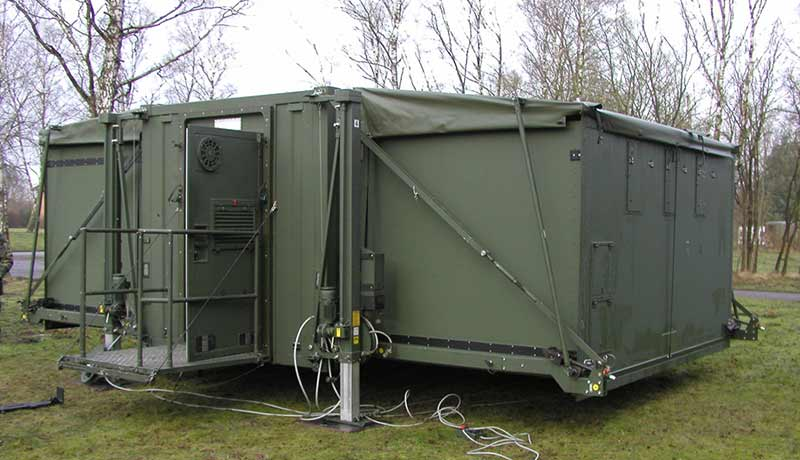 Expandable deployable container providing more space for people and equipment