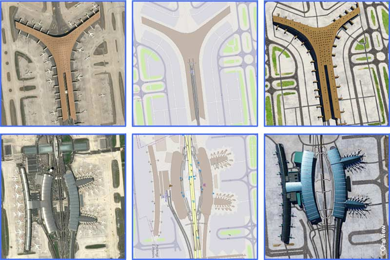OneView's 3D Airport scenes