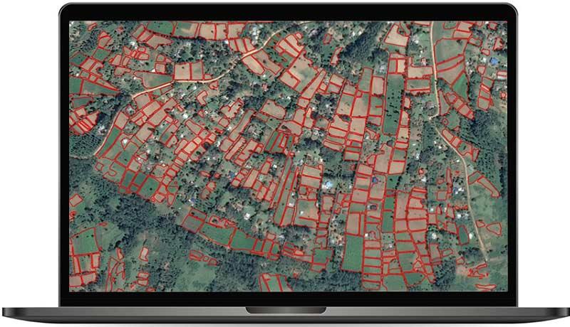 FieldFinder screen - AOI Kenya red