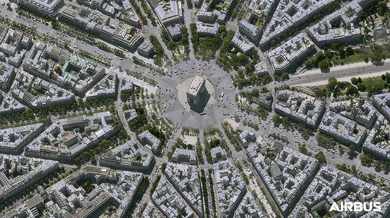 """Pléiades Neo - """"Place de l'Etoile"""" in Paris, France"""