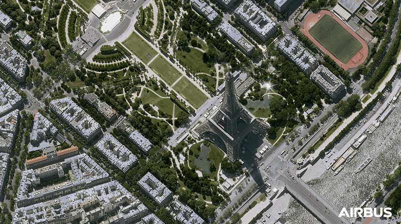 Pléiades Neo - The Eiffel Tower in Paris, France