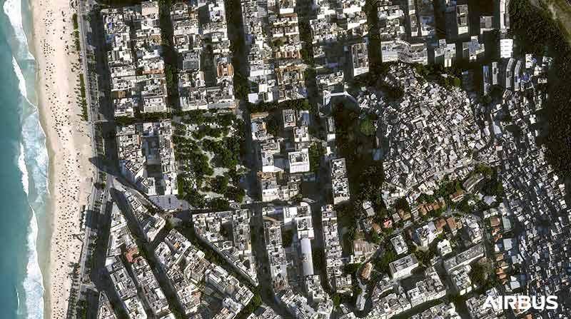 """Pléiades Neo -  """"The Favelas"""" in Rio de Janeiro, Brazil"""