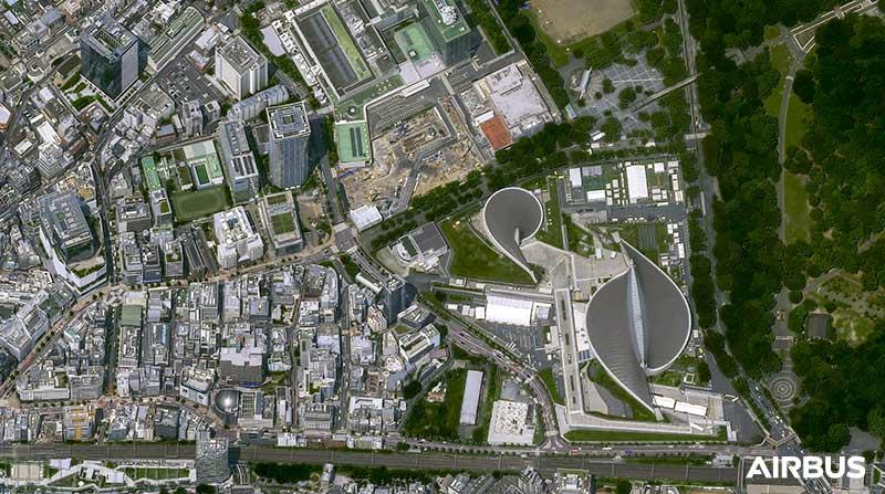 Pléiades Neo Satellite Image - Yoyogi National Stadium in Tokyo, Japan