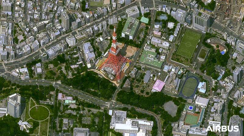 Pléiades Neo Satellite Image - Tokyo Tower, Japan