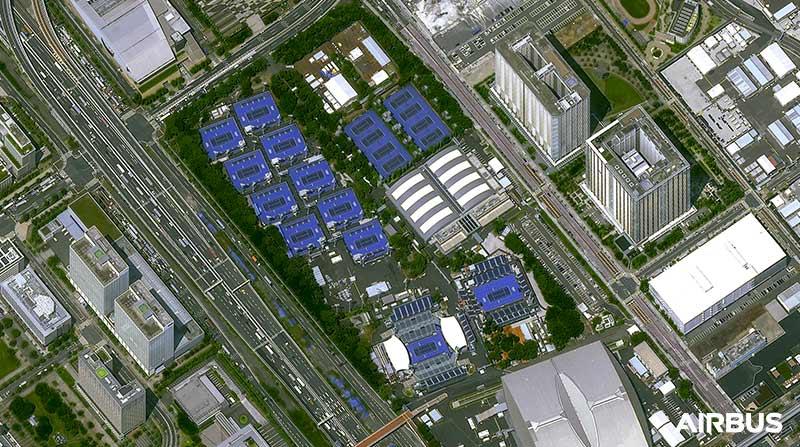 Pléiades Neo Satellite Image - Ariake Tennis Park in Tokyo, Japan