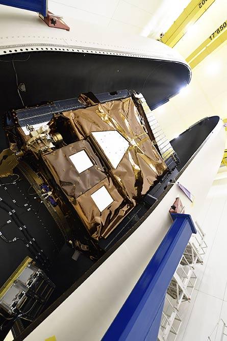 Pléiades Neo satellite encapsulated within the Vega fairing