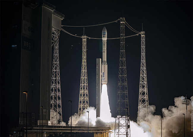 Pléiades Neo 4, the second satellite of the Pléiades Neo Earth observation constellation, was successfully launched by Arianespace's European launcher Vega from French Guiana last night.