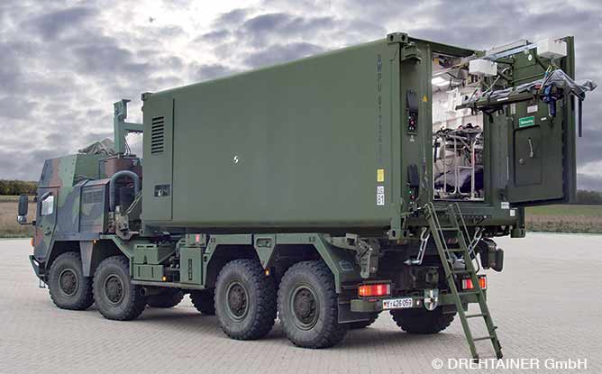 Twelve Protected Casualty Transport Containers © DREHTAINER GmbH