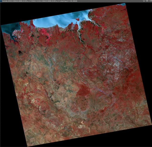 UK-DMC2 Satellite Image - Australia Bush Fires