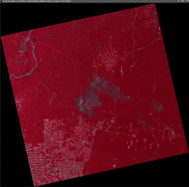 UK-DMC2 Satellite Image - Rondonia, Brazil