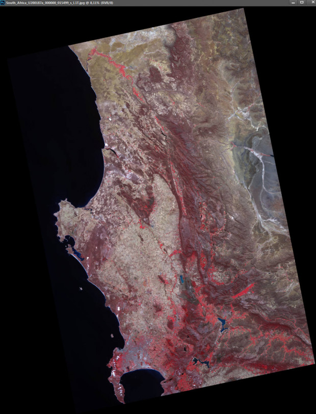 UK-DMC2 Satellite Image - Cape Town, South Africa