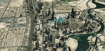 3D Textured Model of Dubai, UAE