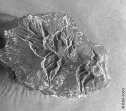 Envisat satellite image - Reunion Island