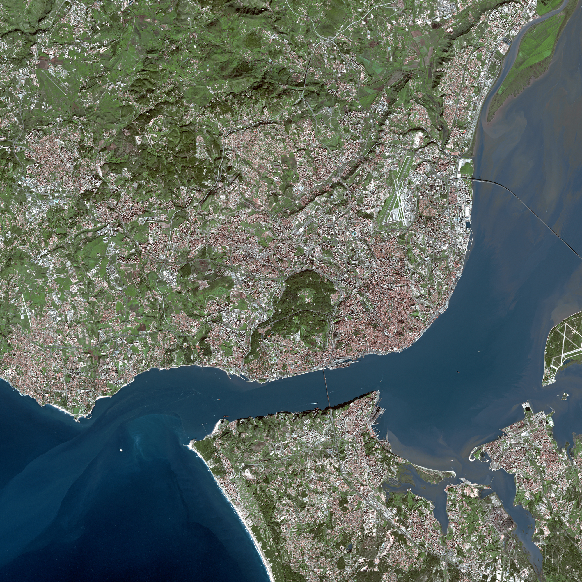 SPOT Satellite Image Lisbon Portugal Airbus Defence And Space - Portugal map satellite